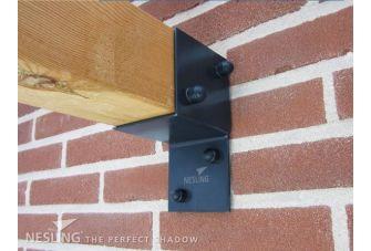 Nesling Douglas Pergola Wall 2 Voor Harmonicadoek Gebroken Wit 3,7x3,7m