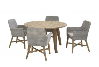 4SO Lisboa Ice Tuinset 4 personen rond Ø130cm