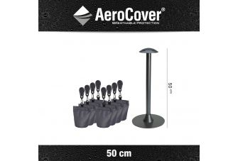 Aerocover support pole set