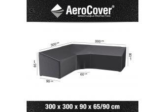Aerocover Loungesets L-vorm - hoge rug - trapeze hoek